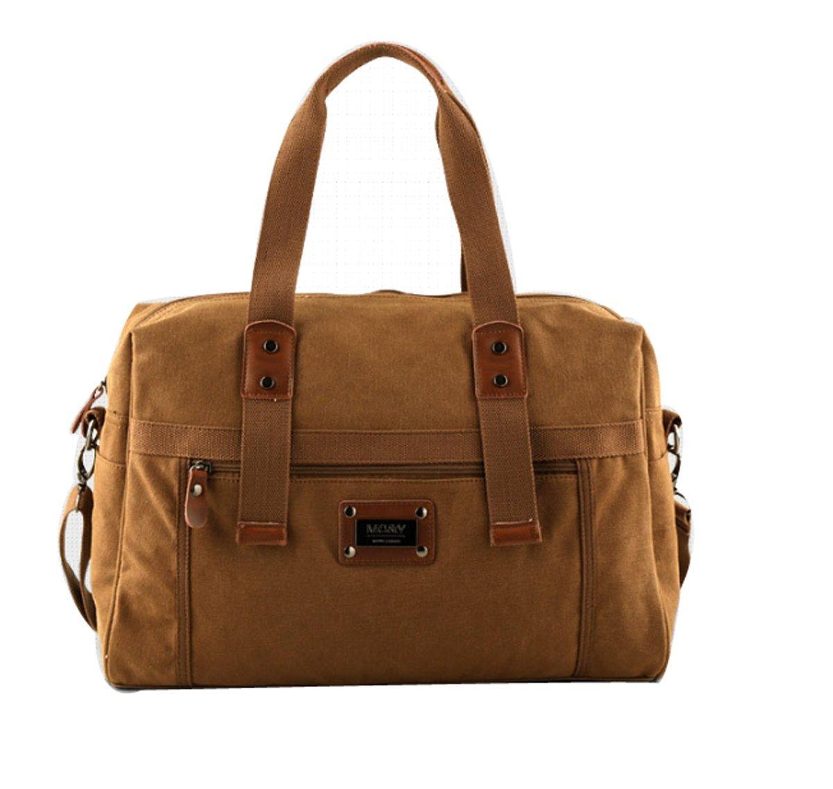 19 Inch Canvas Messenger Bag for Men, Moraner Military Crossbody Shoulder Bag Satchel Travel Bag Bookbag by Moraner