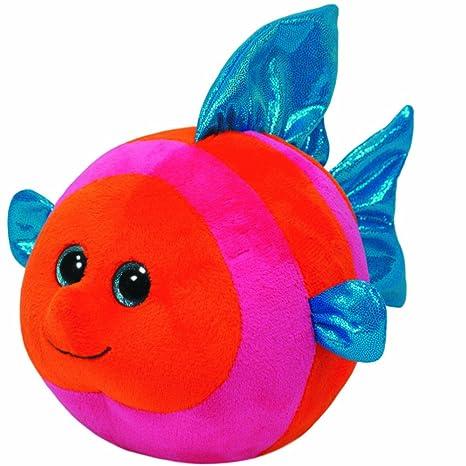 Amazon.com  Ty Beanie Ballz Splashy Orange Pink Fish Regular Plush  Toys    Games b74a1f0c9f4e