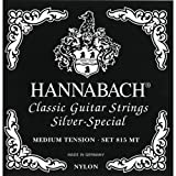 Hannabach Strings for classic guitar Series 815 For 8/10 string guitar / medium tenion Silver special H/9 single string