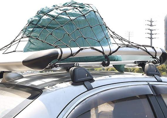 Zjw Gepäcknetz Elastisch Nylon Auto Kofferraumnetz 90 120cm Mit 12 Haken Für Alle Fahrzeugtypen Auto