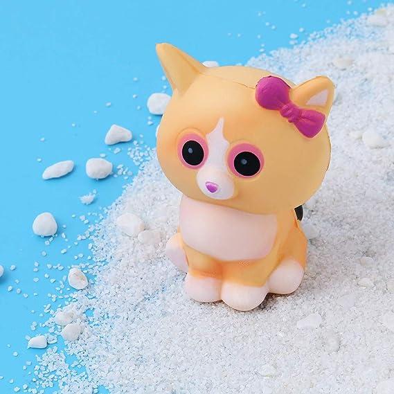 Muium ❀❀❀2019 Nuevo Mini Seguro y Suave Juguete antiestres con Forma de Squishies Kawaii Gato Blanco Crema encantos perfumados, Juguete Encantador para ...