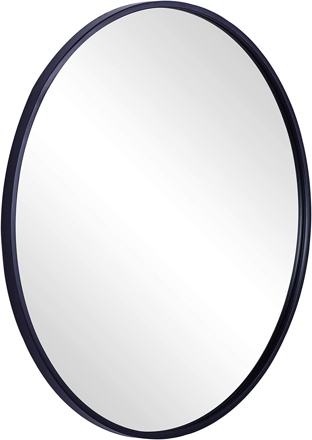 """CHIC MODE Ornate Accent Wall Mirror Elegant and Decorative Black Round Industrial Rustic Metal Framed, 32""""x32"""""""