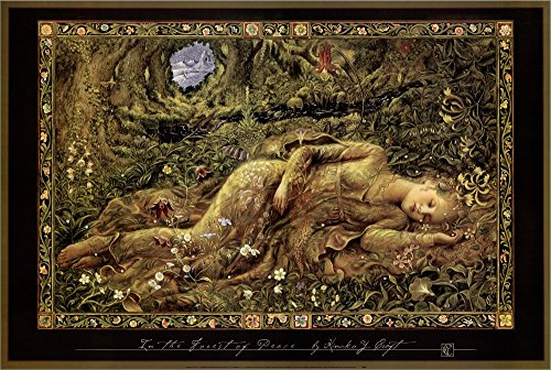 in The Forest of Peace by Kinuko Craft Canvas Art Wall Picture, Museum Wrapped with Black Sides, 32 x 20 inches