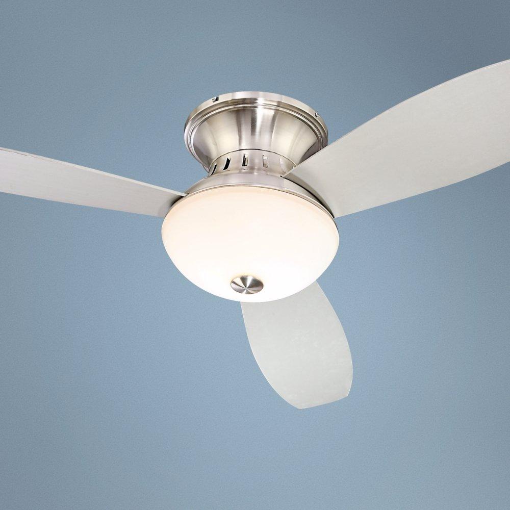 52 encore possini euro brushed nickel hugger ceiling fan amazon mozeypictures Choice Image