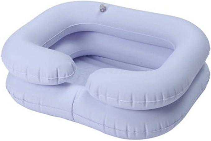 Lavabo inflable de PVC para baño o lavado, plegable, portátil, para personas mayores, embarazadas, pacientes postquirúrgicos, inflado, seguro y cómodo, lavabo plegable