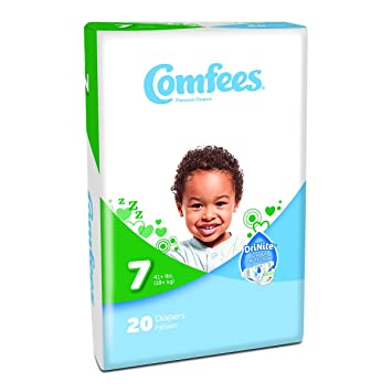 Attends® Comfees® Premium Baby Diapers Size 7, Case of 80