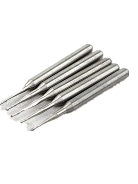 "10x 1mm Double Flute Spiral End Mill Cutter CNC 4mm CEL 1//8/"" 3.175mm Shank"