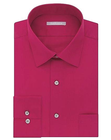 Van Heusen Men S Athletic Fit Long Sleeve Lux Sateen Dress Shirt At