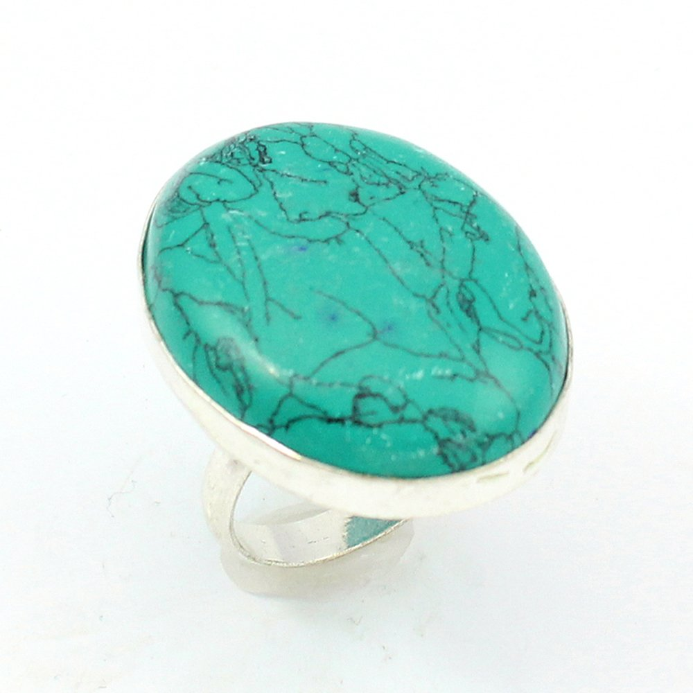 TURQUOISE FASHION JEWELRY .925 SILVER PLATED RING S12574