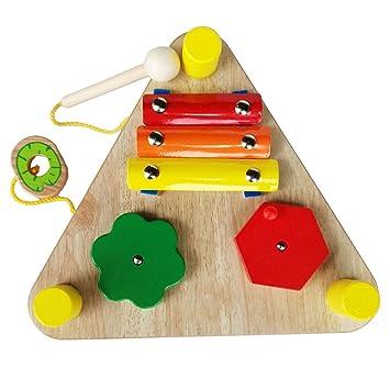 Magideal 6 En 1 Juguetes Montessori De Sonido Instrumento Musicales