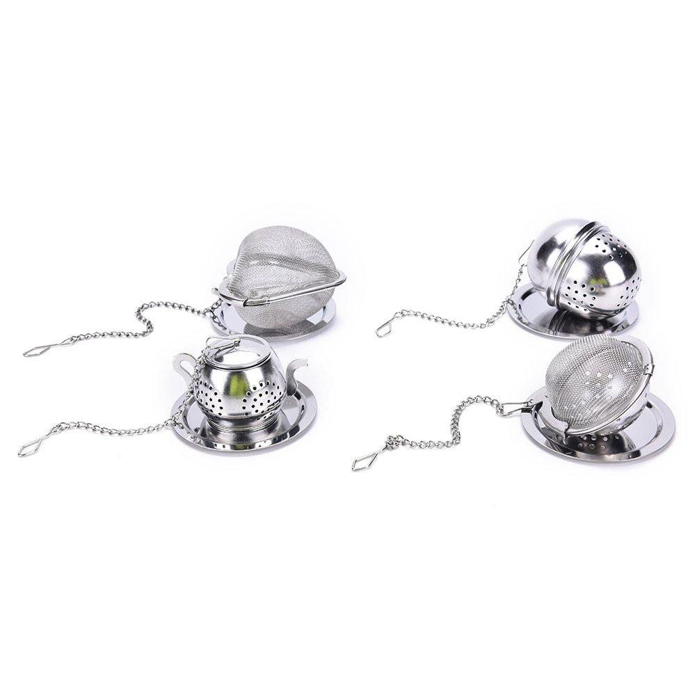 Funnytoday365 Stainless Steel Tea Infuser Loose Leaf Tea Strainer Herbal Spice Infuser Filter Rocket Teapot Heart Oval Circular Tea Tools by FunnyToday365 (Image #4)
