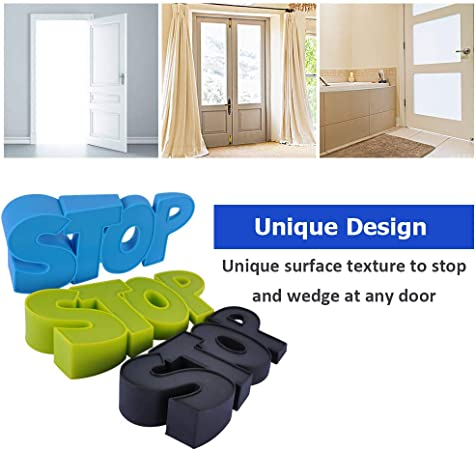 ORNOOU 8 Pack Mouse Shape Silicone Door Stoppers Cute Door Wedge Keep for Home and Office