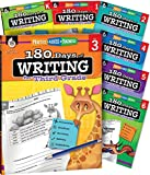 img - for 180 Days of Writing for K-6, Set of 7 Assorted Writing Workbooks, One Per Grade Level for Kindergarten through Sixth Grade (180 Days of Practice) book / textbook / text book