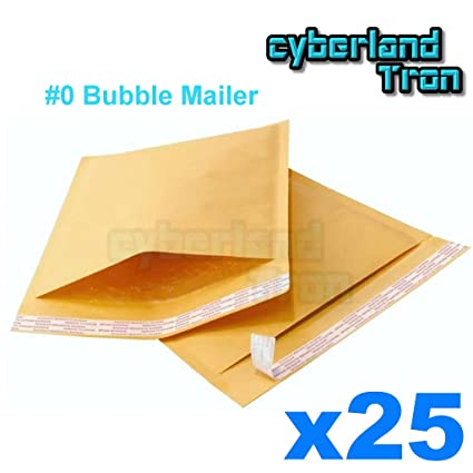 25 Qty 0 Kraft Bubble Mailer 6 X10 6x10 Cushion Self Seal Padded Mailing Envelope Bag Cd Dvd Bonus Size Extra Wide 6 5 X 10