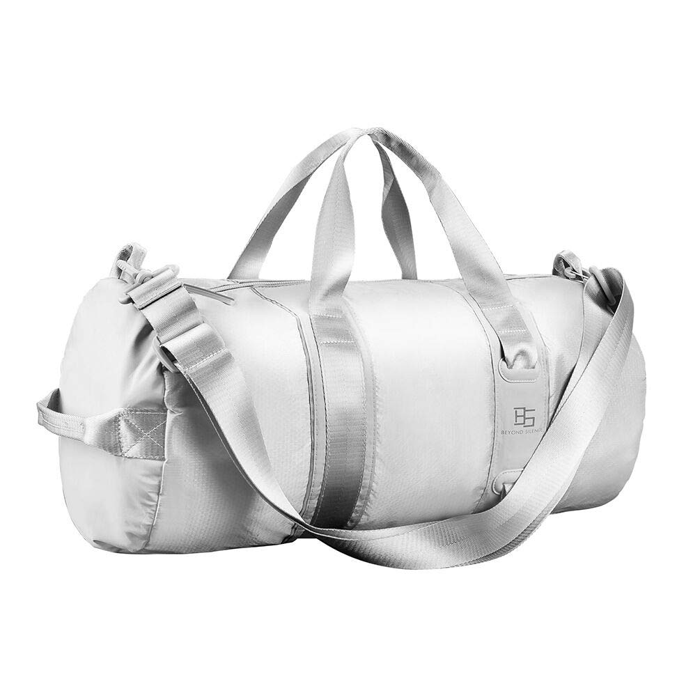 Ultralight Travel Duffel Bag for Women Men, Sport Duffel Bag for Gym,Waterproof,Silver