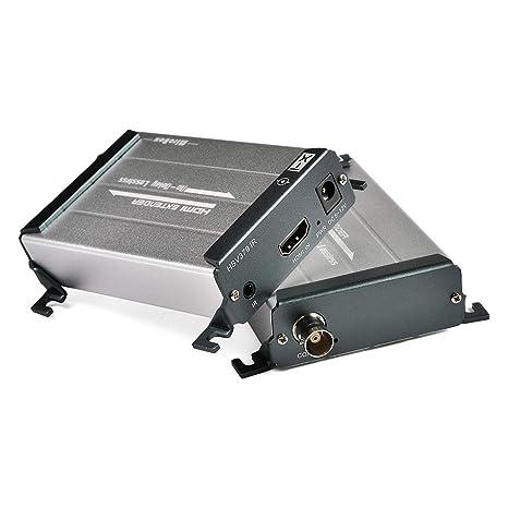Mirabox HDMI Extender sobre Cable Coaxial con Control IR de hasta 656ft 1080P con BNC a