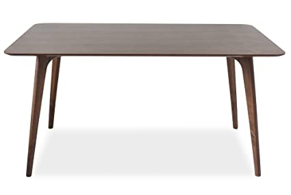 Edloe Finch EF Z4 DT005 Mid Century Modern Dining Table   Walnut Wood