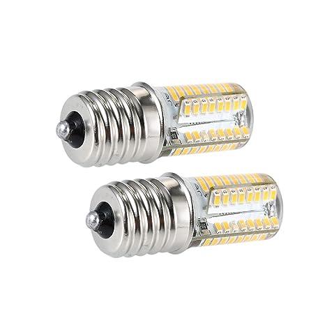 Lilideni Paquete de 2 Bombillas LED E17 Microondas Luz de 4 ...