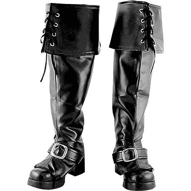 Black Go Go Boot Tops Halloween Costume Accessory