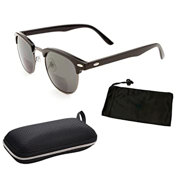 381c9a6f0e 1 Pair Classic Half Rim Frame Clubmaster Metal Retro Geek Bifocal Sun Readers  Reading Glasses (