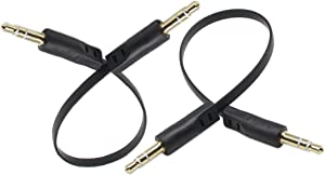 3.5mm Audio Cable,zdyCGTime Gold Plated 3.5mm Auxiliary Audio Stereo Male to 3.5mm Stereo Plug/Male Cable(0.5 Feet)