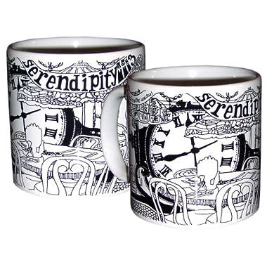Serendipity 3 Black and White Mug