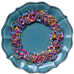 ZaoProteks ZP1301 100 Pcs Elastic Rubber Hair Bands Hair Ties for Little Girl, Girls Toddlers Kids Accessories