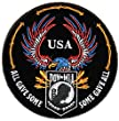 All Gave Some Some Gave All USA POW MIA Eagle Round Patch - By Ivamis Trading - 3.5x3.5 inch