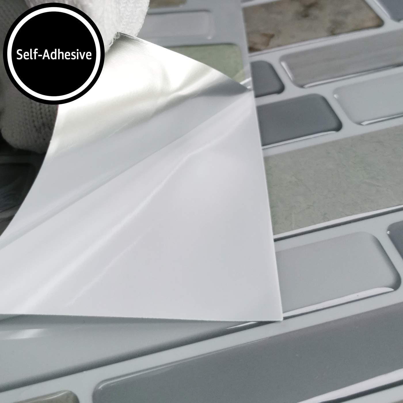 Art3d Peel and Stick Bathroom//Kitchen Backsplash Tiles 6 Tiles