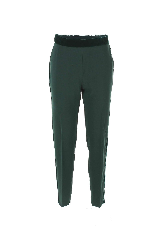 Pinko Pantalone Donna 46 Verde Cornice Autunno Inverno 2018/19