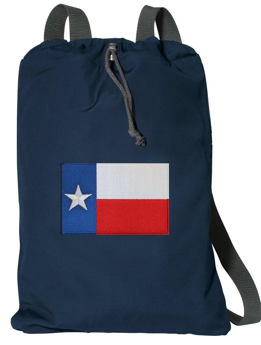 Texas Drawstring Backpack RICH COTTON Texas Flag Cinch Bag