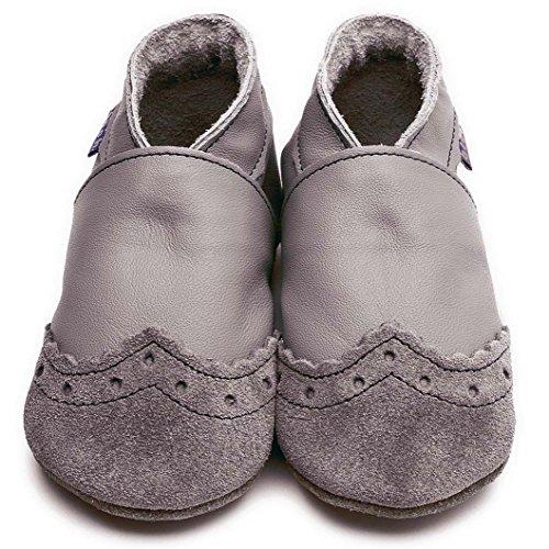 Inch Blue - Patucos para niña gris - gris