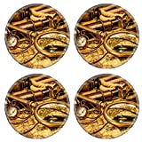 MSD Round Coasters Vintage magnifying glass compass telescope - Best Reviews Guide