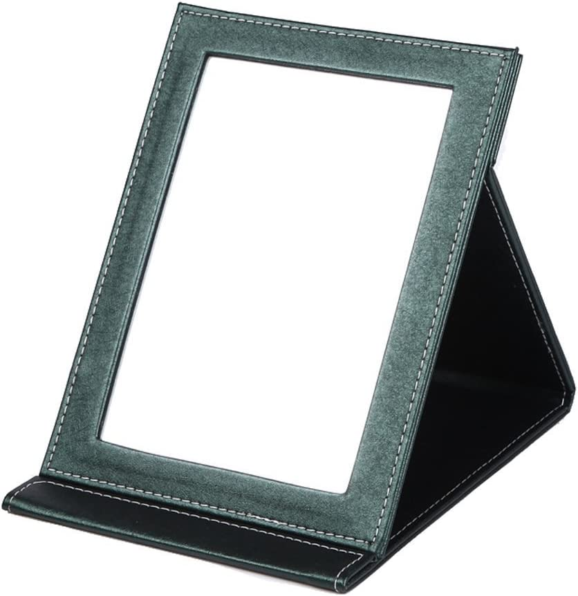 Miroir de table pliable Rnow cuir synth/étique pour se maquiller
