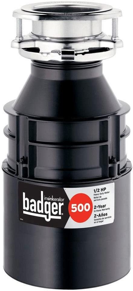 1//2 HP Continuous Feed Badger 5 Badger 5 InSinkErator Garbage Disposal 1//2 HP Continuous Feed,Black /& Garbage Disposal with Cord