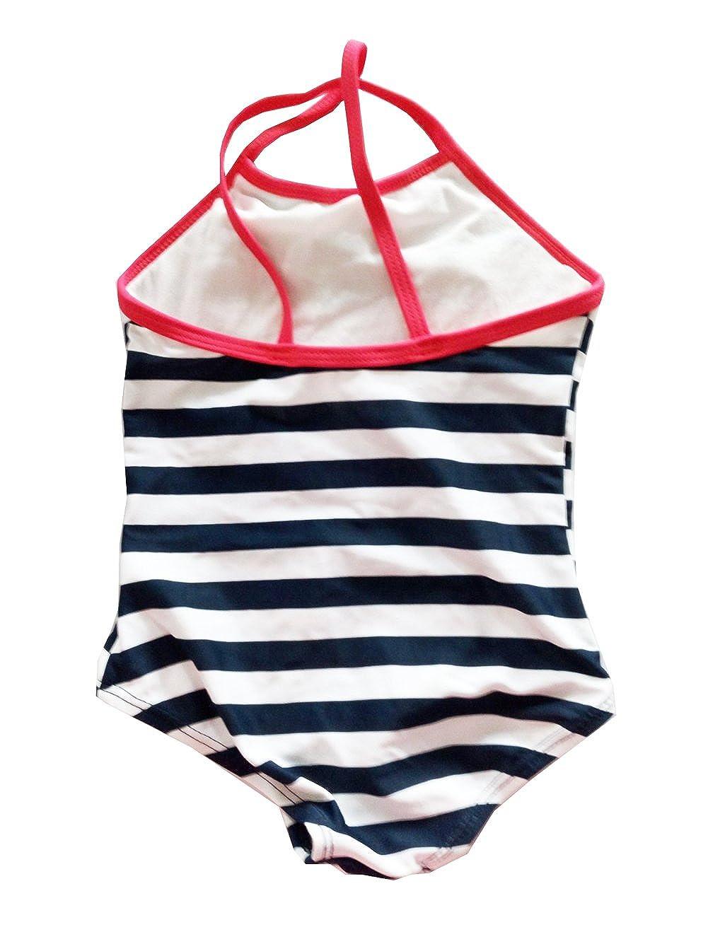 Infant Baby Girls One Piece Striped Swimwear