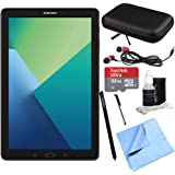 Samsung Galaxy Tab A 10.1 Tablet PC Black w/S Pen 32GB Bundle includes Tablet, 32GB MicroSDHC Card, Microfiber Cloth, Cleaning Kit, Stylus Pen with Clip, Hard EVA Case with Zipper for Tablets