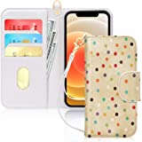 """FYY Case Compatible with iPhone 12 Pro Max 5G 6.7"""", [Kickstand Feature] Luxury PU Leather Wallet Case Flip Folio Cover with ["""