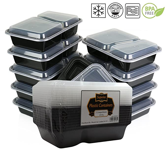 1 opinioni per { 10 } pacchetto Microonde e lavabili in lavastoviglie impilabili pasto Prep