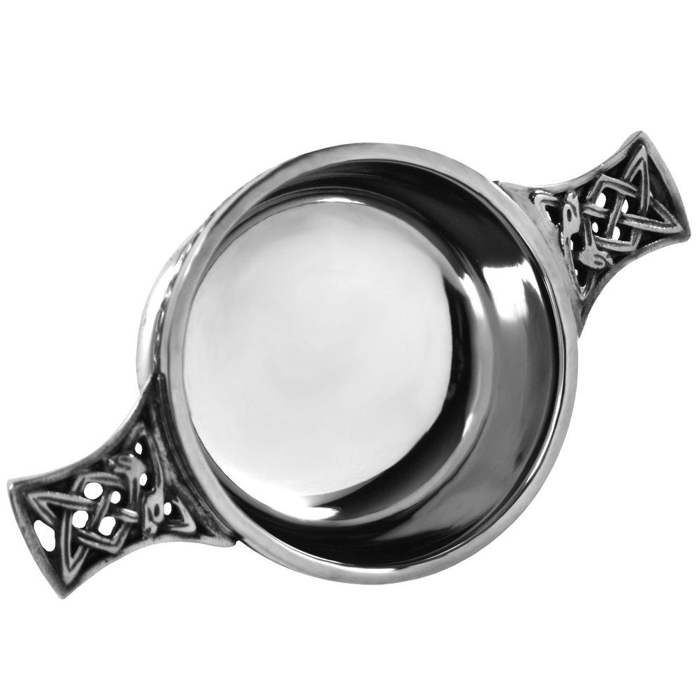 English Pewter Company Celtic Pewter Scottish Quaich Bowl Loving Cup Small [PQ501]
