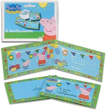 Peppa Pig 68636, Pack 6 Invitaciones, Invitaciones para Fiestas y cumpleaños: Amazon.es: Juguetes y juegos
