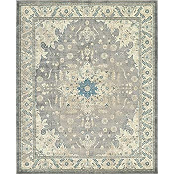 Amazon Com Luxury Vintage Persian Design Heriz Rug Gray