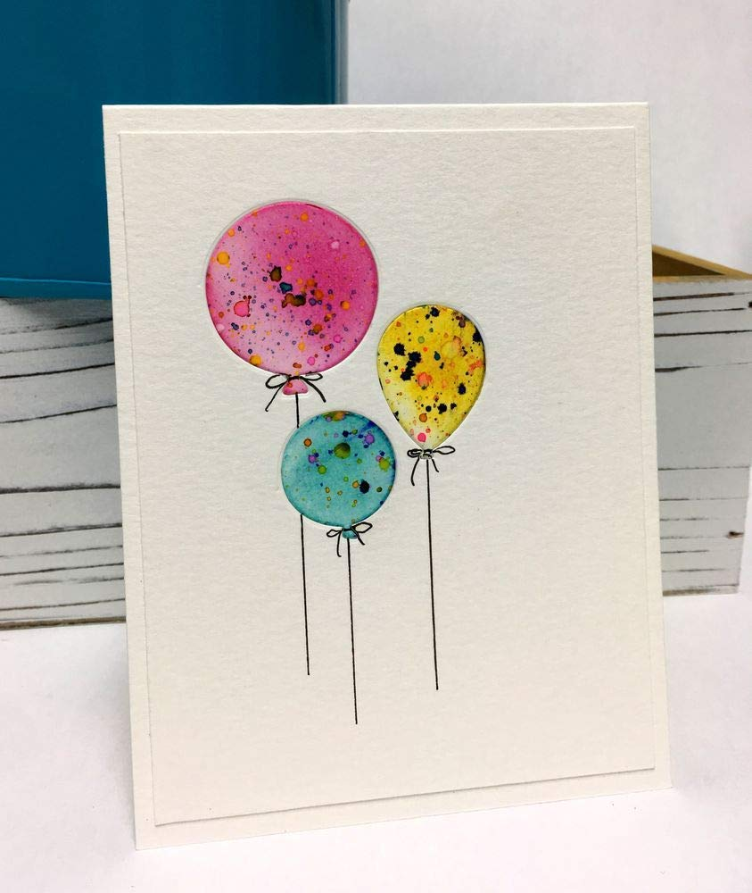 Pleasant Amazon Com Handmade Greeting Card Happy Birthday Balloons Personalised Birthday Cards Rectzonderlifede
