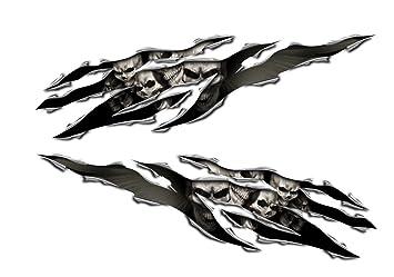 Amazoncom Yamaha YZF R R FZ FZ YZF Fazer Skull Rip Decal - Skull decals for motorcycles