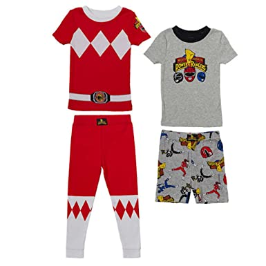 Amazon.com  Power Rangers Little Boys Character Cotton Pajama Set ... a5ef2570e