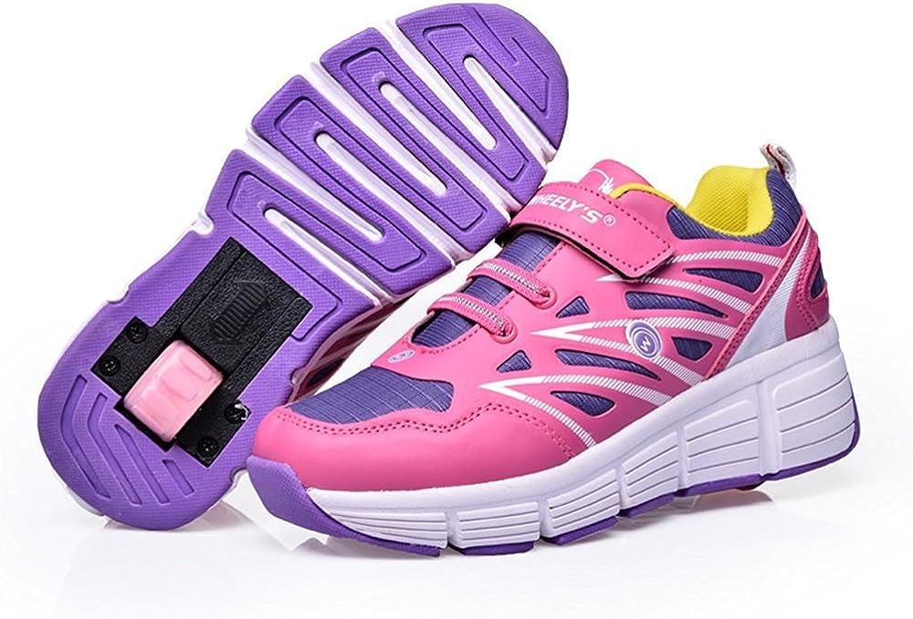 Little Kid//Big Kid PinkUS2.5=EU34 Good Good Single Wheel Straight Up Skate Shoe Roller Sneakers