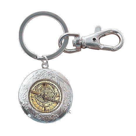 Steampunk Mysteries llavero de cristal para hombre Astrolabe ...