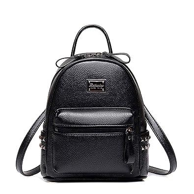 39396346f0ff Girls Womens Mini Backpack - Side Studs - PU Leather - Sweeneys (Black)