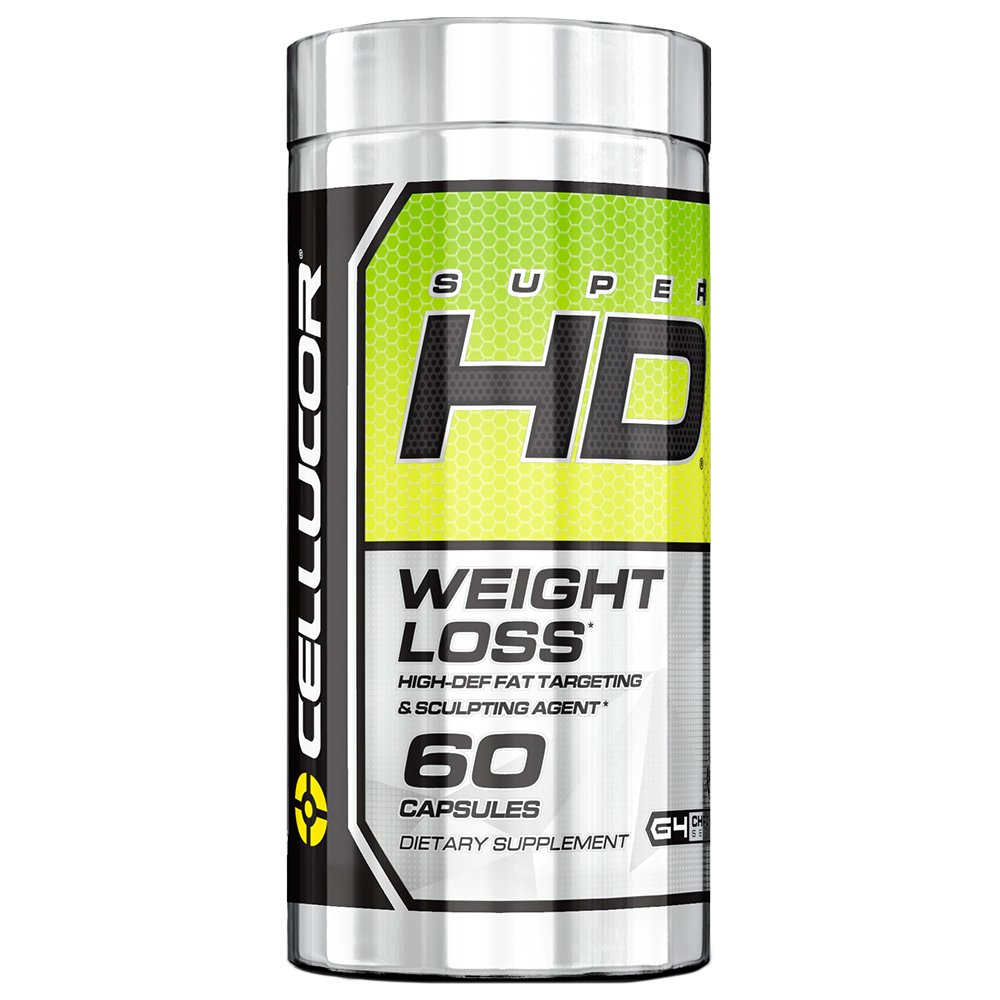 Cellucor SuperHD Thermogenic Fat Burner, Fat Burners For Men & Women, Weight Loss Supplement, 60 Capsules by Cellucor