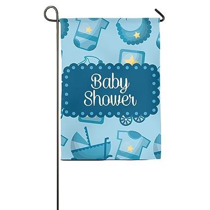 Amazon Wyizyiqa Happy Baby Shower Garden Flag Yard Decorations